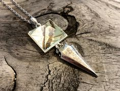 Real Butterfly Wing Quartz Crystal Pyramid by ChrysalisStudios
