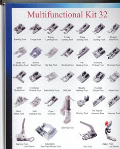 Amazon.com: Embroidex - Huge Collection of 32 Sewing Presser Feet for Brother, Babylock, New Home, Janome, Elna, Toyata, Singer, Elna, Simplicity, Necchi, New Home, Kenmore, White Sewing Machine