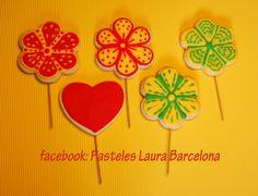 Flores  Galletas con palo