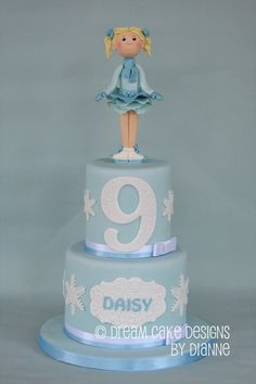'DAISY' ~ PRETTY 2 TIER ICE SKATER CAKE Ice Skaters, Birthday Cakes, Special Occasion, Daisy, Simple, Pretty, Desserts, Food, Tailgate Desserts