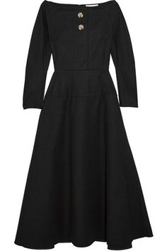 Rejina Pyo - Mina Cotton-blend Poplin Dress - Black - UK14