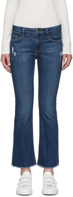 Frame Denim - Blue Le Crop Mini Boot Jeans