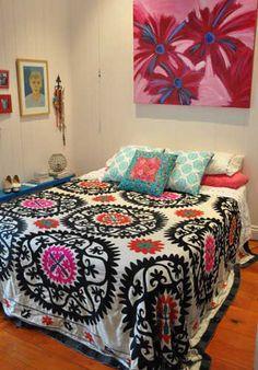 Suzani bedspread, Moroccan
