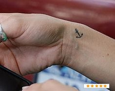 Small Anchor Wrist Tattoo (left wrist)
