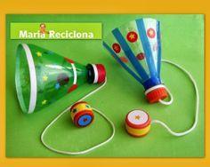 Mais um brinquedo com material reciclado para a… Kids Crafts, Diy And Crafts, Craft Projects, Paper Crafts, Craft Activities, Toddler Activities, Toys From Trash, Plastic Bottle Crafts, Plastic Bottles