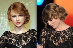 Taylor Swift hair updo