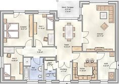 PLAN 125 - Winkelbungalow mit 125 qm Grundriss PLAN 125 - angular bungalow with 125 sqm floor plan Feeling Pictures, Life Pictures, The Plan, How To Plan, Apartment Entryway, Dream House Plans, Smart Home, Future House, Floor Plans
