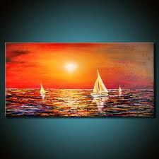 nautical sunset painting