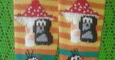 Viimeinkin sain valmiiksi nämä satumaiset Myyräsukat itselleni. Tämä oli sellainen projekti, että ihan heti en haaveile uutta vastaavaa aloi... Socks, Rugs, Crafts, Home Decor, Patterns, Farmhouse Rugs, Manualidades, Decoration Home, Room Decor
