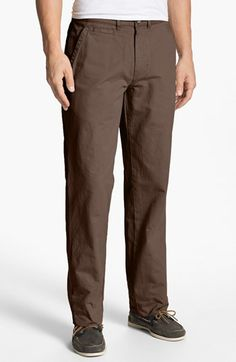 $95, Vintage 1946 Military Relaxed Fit Chinos Brown Olive 34. Sold by Nordstrom. Click for more info: https://lookastic.com/men/shop_items/44505/redirect