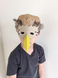 DIY - Vogelmasken für Kinder, Drossel und Amsel
