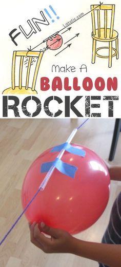 Cohetes globo !! - 29 de los más oficios y actividades creativas para los niños!