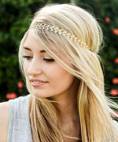 Another great find on #zulily! Goldtone & Crystal Leaf Headband #zulilyfinds