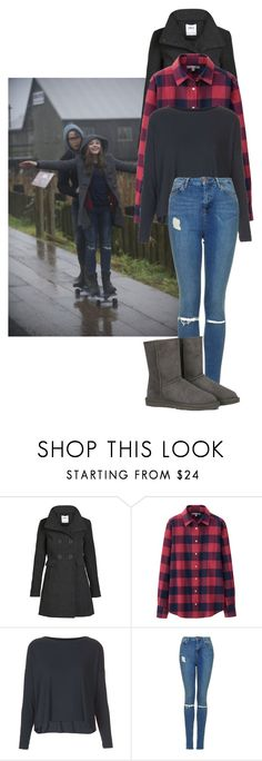 """""""If I Stay Inspired - Chloe Moretz/Mia Hall Rainy Day Outfit."""" by cm-style ❤ liked on Polyvore featuring ONLY, Uniqlo, Topshop and UGG Australia"""