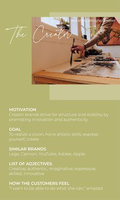 Jungian Archetypes, Brand Archetypes, List Of Adjectives, Brand Strategist, Great Fear, Marketing Branding, Human Behavior, Business Entrepreneur, Change The World
