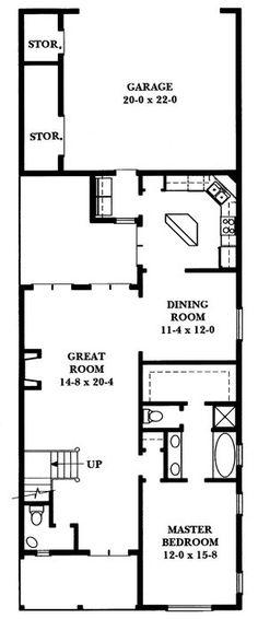 Country Floor Plan - Main Floor Plan Plan #1047-4