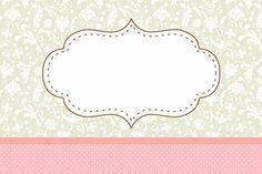 Poá Rosa e Cinza Floral Vintage – Kit Completo com molduras para convites, rótulos para guloseimas, lembrancinhas e imagens!