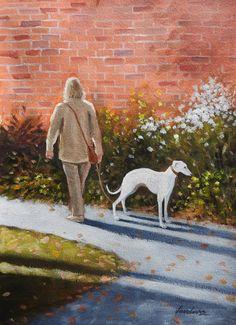 Greyhound Kunst, Art Through The Ages, Lurcher, Dog Art, Art History, Greyhounds, Whippets, Cartoon, Anna Wilson