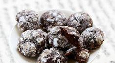 Biscuits craquelés au chocolat et à la fleur d\'oranger