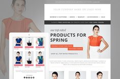Fashion E-mail Newsletter Blast PSD by JannaLynnCreative on @creativemarket