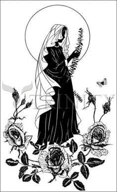 lo how a rose eer blooming catholic christian religious art silhouettes