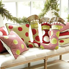 Holiday Dot Pillows | Ballard Designs