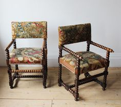Pair of French Bobbin Chairs - Decorative Collective Vanity Bench, Blackberry, Dining Chairs, Pairs, French, Antiques, Furniture, Home Decor, Antiquities