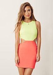 Check out the latest looks from Planet Blue and get 15% off! Two Tone Cut Out Dress - Naven