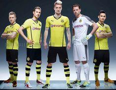 Borussia Dortmund 2013/14 PUMA Home, Away and Third Kits