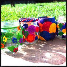 Fimo & Sculpey Rainbow Storage Jars | Recycled Jar Craft