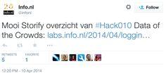 Aandacht op #Twitter voor de #Storify van #hack010