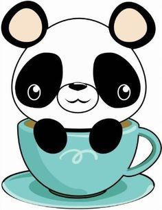Panda In A Cup