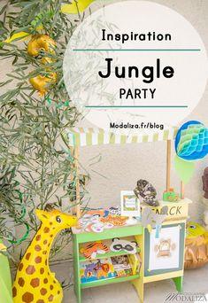 jungle party inspiration anniversaire decoration diy animation photobooth masques animaux tattoo bar sur le blog modaliza photo