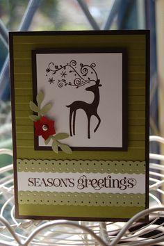 Raindeer Christmas Card (Stampin Up)
