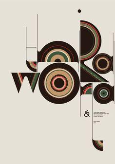 Qualto Typeface by Aron Jansco, who has totally won my heart through design. Creative Typography, Typography Letters, Graphic Design Typography, Graphic Design Illustration, Graphic Art, Japanese Typography, Lettering, Mockup Design, Graphisches Design
