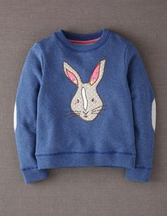 I've spotted this @BodenClothing Appliqué Sweatshirt Midnight Blue Marl/Bunny