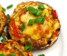 Pieczarki portobello faszerowane mielonym mięsem – Bullio Portobello, Cauliflower, Food And Drink, Vegetables, Cauliflowers, Vegetable Recipes, Cucumber, Veggies