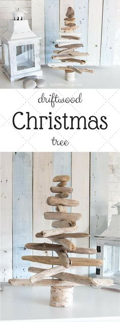 Adorable driftwood Christmas tree! It's going to look perfect as table-top decor or my mantle for the holiday. #christmas #christmastree #driftwooddecor #ad #driftwoodchristmastree #fsarmhouse #farmhousechristmas #rusticdecor