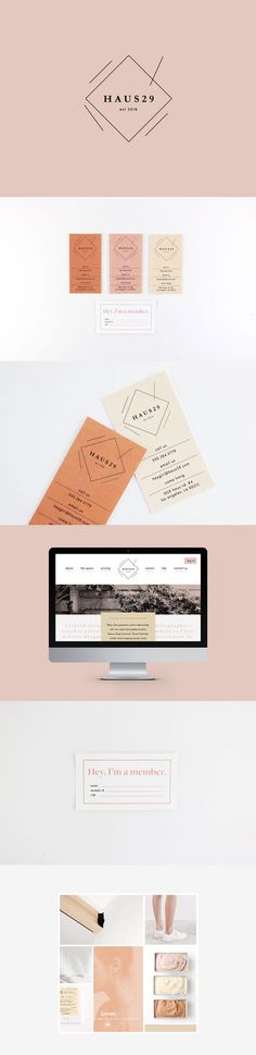 Pretty colors - Branding — Haus 29 — Hazel and Roman Corporate Design, Brand Identity Design, Graphic Design Branding, Web Design Agency, Design Services, Brand Design, Logo Branding, Branding Agency, Logo Inspiration