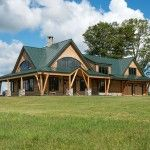 Vermont timber home exterior
