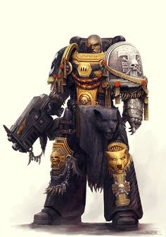 I think this is a deathwatch marine. Warhammer 40k Rpg, Warhammer Fantasy, Warhammer Models, Grey Knights, Deathwatch, Imperial Fist, Space Wolves, Marvel, Space Marine