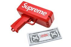Supreme's Cash Cannon will make you embrace your inner child in no time.   https://www.stadiumgoods.com/cashcannon-money-gun-red-su1629  #Supreme