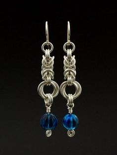 Kit - Earrings - Beaded Byzantine Rose Earrings - Classic Chainmaille Dangles - Kit Or Ready Made