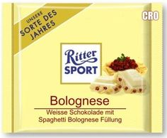 RITTER SPORT Fake Schokolade Bolognese