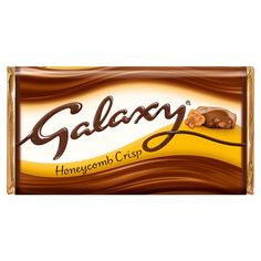 Milk chocolate with crisp honeycomb pieces Smooth and creamy Galaxy® chocolate with crispy honeycomb pieces. Why have cotton when you can have silk?® Pack Size: - Suitable for vegetarians Galaxy Chocolate Bar, Cadbury Chocolate, Chocolate Brands, Chocolate Shop, Old Candy, Chibi Food, Oreo Brownies, Food Drawing, Dessert Drinks
