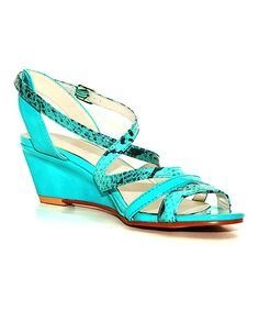 674dfe5aab62 Intaglia Light Teal Sevita Wedge Sandal