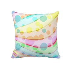 Pretty Pastel Bubbles Throw Pillows