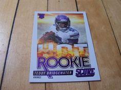#2014 #Panini Score #TeddyBridgewater RC Hot Rookie Insert Card #MinnesotaVikings #Bridgewater #NFL