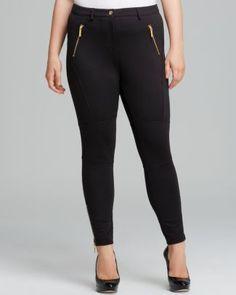 3c9764d417b MICHAEL Michael Kors Seamed Zip Ponte Knit Plus Size Pants