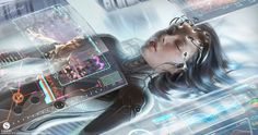 Tears in Rain: The role of memories in Cyberpunk - Sci-fi and Fantasy Network Cyberpunk Kunst, Sci Fi Kunst, Arte Sci Fi, Sci Fi Art, Blade Runner, Science Fiction Kunst, Arte Disney, Futuristic Technology, Sci Fi Characters